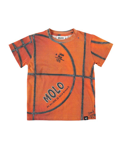 Road Basketball Print T-Shirt, Size 4-12