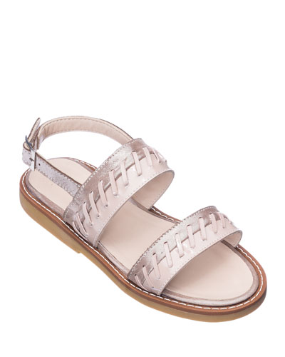 Girls' Larissa Stitched Leather Sandals, Toddler/Kids