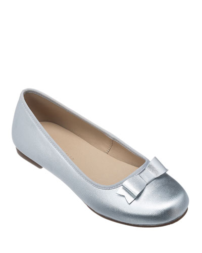 Camille Metallic Leather Flat, Toddler/Kids