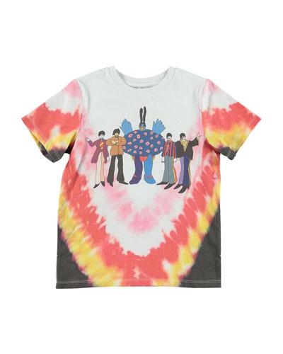 Kid's Tie Dye Beatles Tee, Size 4-14