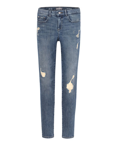 Boys' Zane Distressed Skinny Jeans, Size 2-7