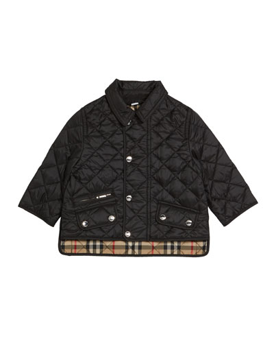 Brennan Quilted Snap Jacket, Size 6M-2