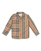 Burberry Amir Icon Stripe & Check Button-Down Shirt,