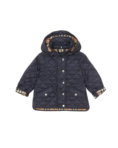 Kids Quilted Hooded Jacket Neiman Marcus