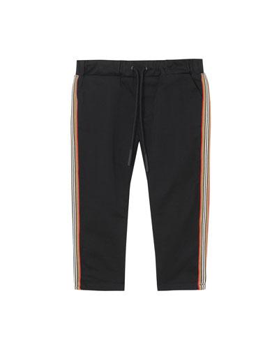 Curran Drawstring Chino Pants w/ Icon Stripe Sides, Size 6M-2
