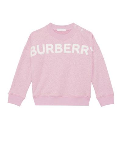 Mindy Embossed Logo Sweatshirt, Size 6M-2