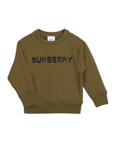 Derick Embossed Logo Sweatshirt, Size 3-14