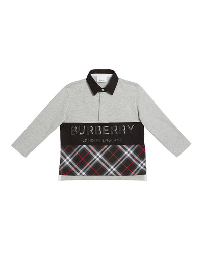 c01473e6 Burberry Cotton Polo Top | Neiman Marcus