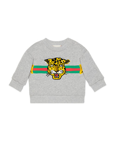 Boys' Cat Graphic Crewneck Sweatshirt, Size 12-36 Months