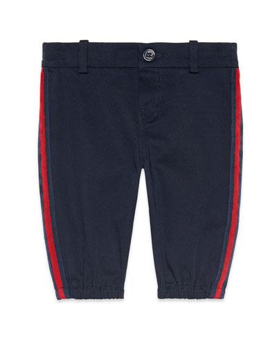 Web Trim Pants w/ Logo Patch, Size 6-36 Months