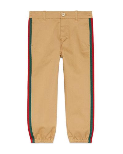 Web Trim Jogger Pants, Size 4-12