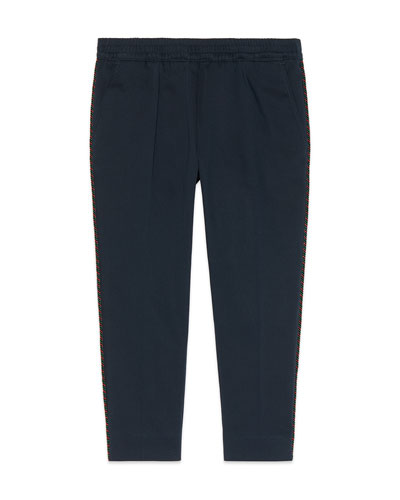 Pants w/ Piping on Sides, Size 4-12