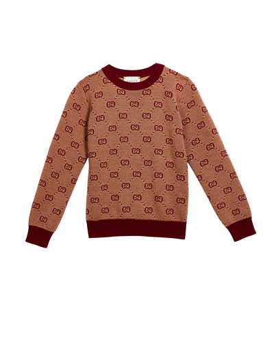Boy's GG Knit Sweater, Size 4-12