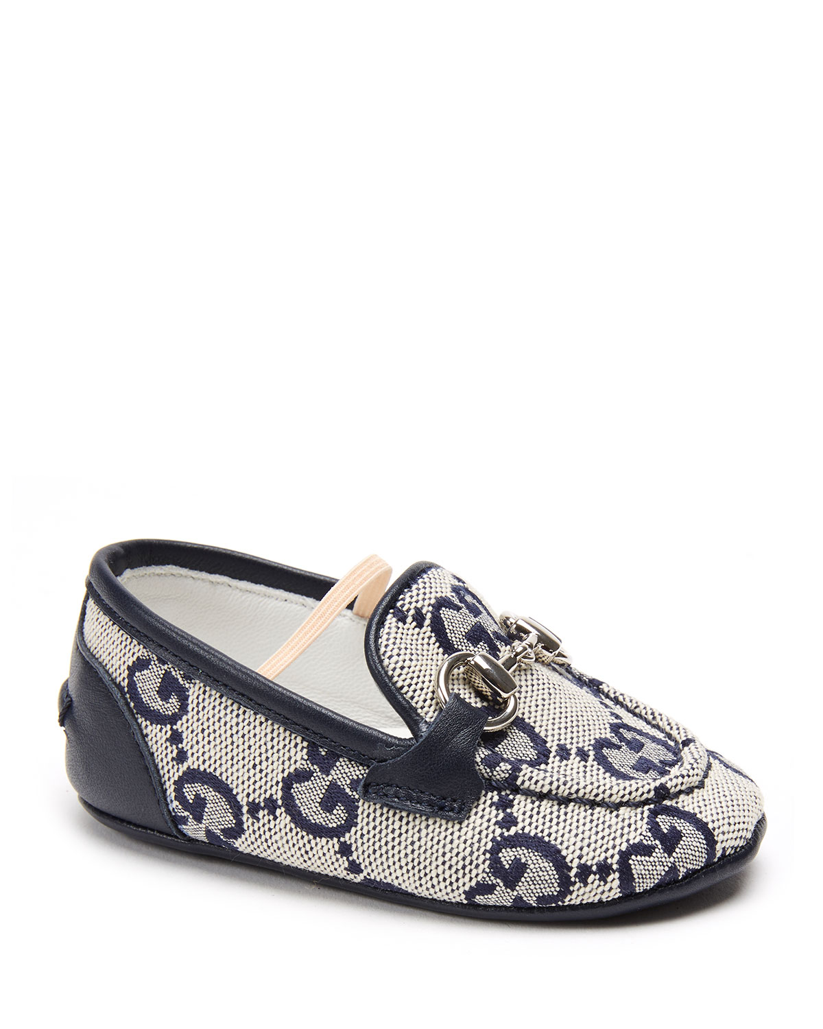 Gucci Jordaan Gg Supreme Canvas Loafers, Baby In Blue