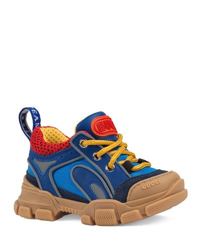 Kid's FlashTrek Leather & Canvas Sneakers, Baby/Toddler