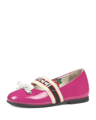 Patent Leather Gucci Band Ballet Flats, Baby/Toddler