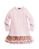 Imoga Long-Sleeve Yarn Dress w/ Tiered Drop Waist,