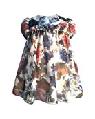 Helena Girl's Puffy Sleeve Floral Dress, Size 2-3