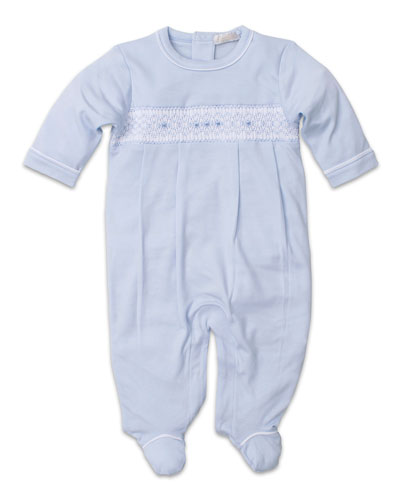 CLB Fall Smocked Pima Footie Playsuit, Size Newborn-9 Months