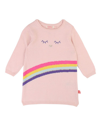 Rainbow Intarsia Sweater Dress, Size 12M-3
