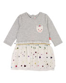 Billieblush Jersey & Tulle Long-Sleeve Dress, Size 12M-3