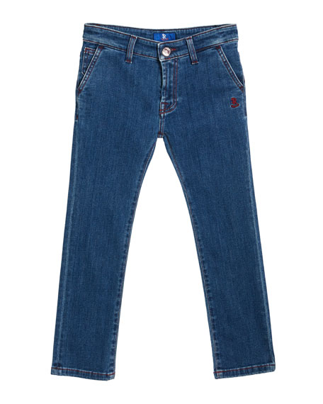 Stefano Ricci Kids' Denim Sport Trousers, Size 6-10