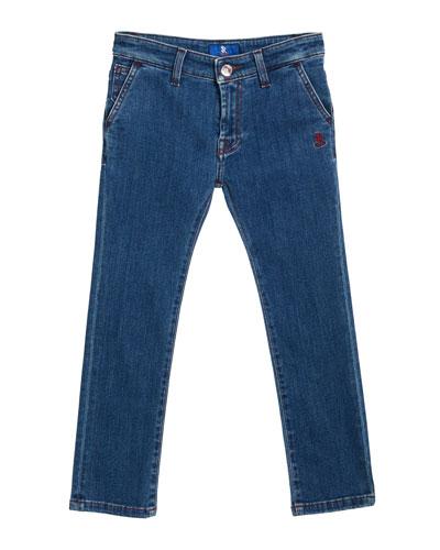 Straight Leg Denim Jeans, Size 4-12