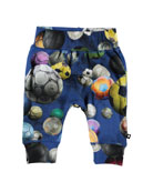 Molo Sammy Soccer Ball print Soft Pants, Size