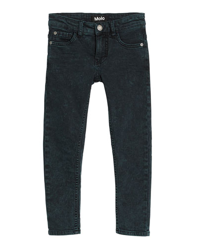 Aksel Green Washed Denim Jeans, Size 4-12