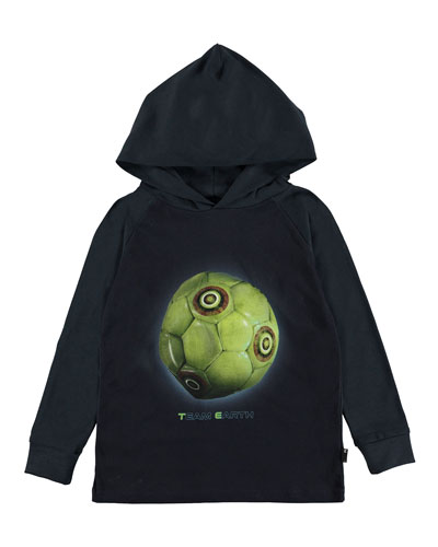 Ramzi Team Earth Graphic Hooded Tee, Size 4-12