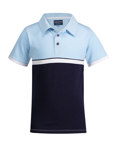 Colorblock Short-Sleeve Polo Shirt, Size 2-6X