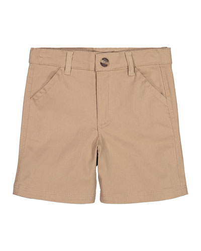 Cotton Twill Shorts, Size 2-6X