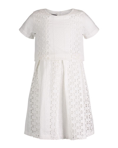 Short-Sleeve Summer Lace Dress, Size 2-6X