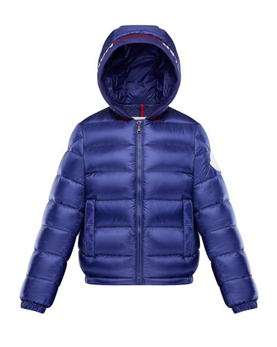 Basslong Season Quilted Logo-Trim Hooded Puffer Jacket, Size 4-6