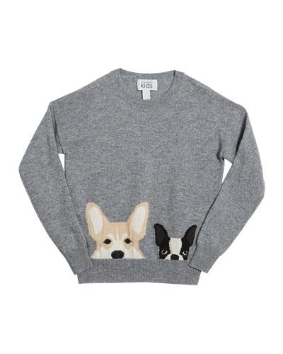 Corgi & Terrier Drop-Shoulder Sweater, Size 8-16