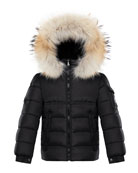 Moncler Boy's New Byron Hooded Jacket w/ Fox