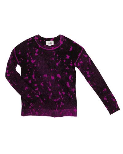 Inked Splatter Paint Sweater, Size 8-16