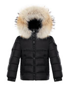 Moncler Boy's New Byron Hooded Jacket w/ Fox