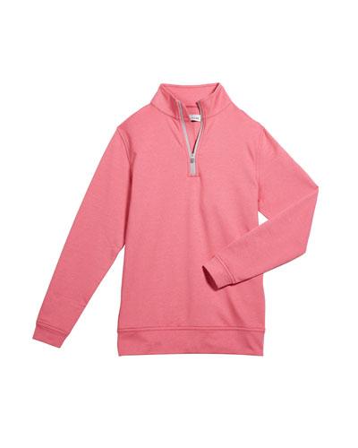 Boy's Perth Performance Quarter-Zip Sweater, Size XS-XL