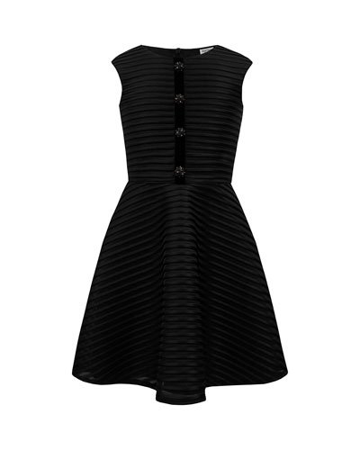Shadow Stripe Sleeveless Dress, Size 10-16