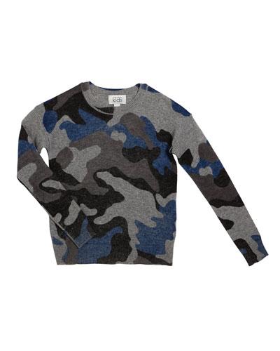 Inked Camo Sweater, Size 8-16