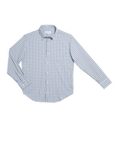 Boy's Woven Check Button-Down Collar Shirt, Size XS-XL