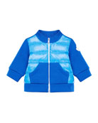 Moncler Maglia Mixed Material Stand Collar Jacket, Size
