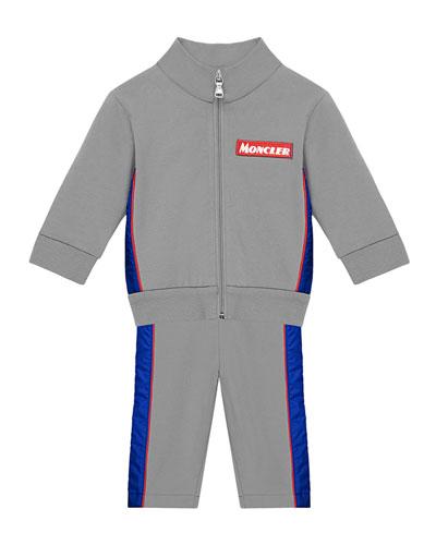 Contrast Trim Zip-Up Jacket w/ Matching Sweatpants, Size 12M-3