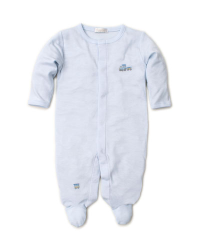 Premier Choo Choo Striped & Embroidery Footie Playsuit, Size Newborn-9 Months