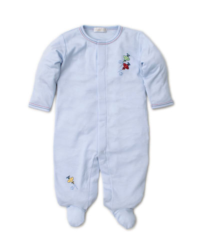 SCE Airplanes Embroidered Footie Playsuit, Size Newborn-9 Months
