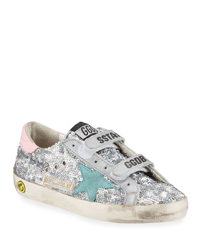 Girl's Old School Paillettes Sneakers, Toddler/Kids