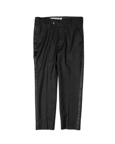 Boy's Straight Leg Tuxedo Pants, Size 2-10