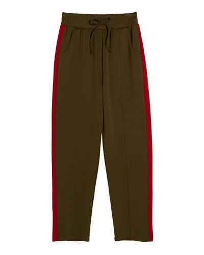 Lennon Tricot Drawstring Active Pants, Size 7-14