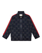 Gucci Metallic GG Jacquard Jacket w/ Web Trim